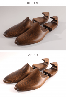 Обработка фотографий вставок для обуви