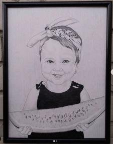 Портрет на форматі А3 + рамка