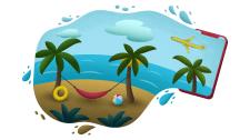 Иллюстрация для туристического агенства