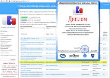 Участие в Общероссийском рейтинге школьных сайтов