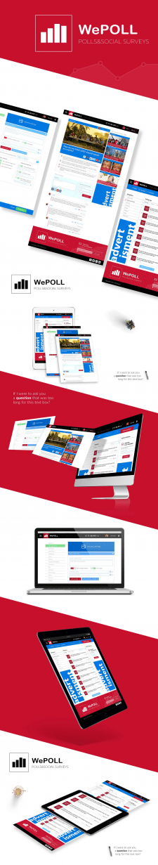 WePoll website design