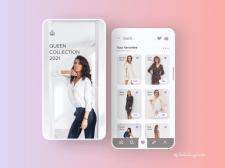 Design of favorites for online shop.