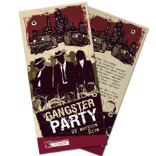 Флаер-приглашение на гангстерскую вечеринку
