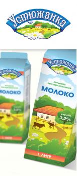 Устюжанка  |  логотип и упаковка молока. Утвержден