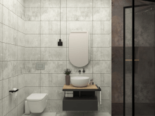 Дизайн ванной комнаты в квартире 150 кв. м.