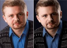 Ретушь мужского портрета