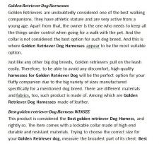 SEO-копирайтинг англ. яз. - Dog Harnesses