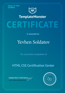 Certification for web-developer HtmlCss