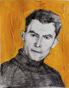 Портрет олівцем та фарбами