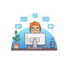 Программирование - баннер для сайта