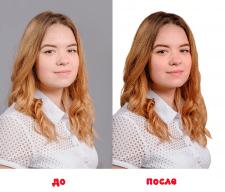 Обтравка портретного фото, ретушь, цвет