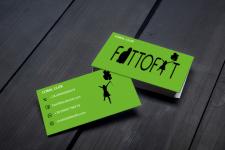 Двухсторонняя визитка для марафона #FATTOFIT