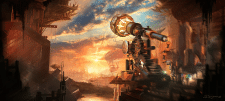 Matte painting Steampunk observatory