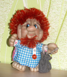 """Чулочная кукла """"Мужичок-Домовичок"""""""