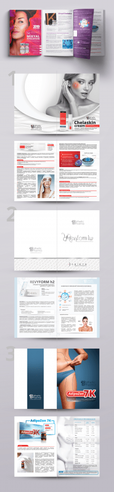 Дизайн каталогов для Esthetic Pharma