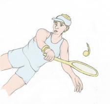 Теннисист - растр