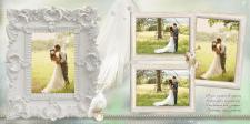 Зразок сторінки весільної фотокниги