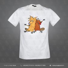 Принт для футболки. Отрисовка в векторе