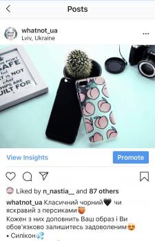 Опис товарів, ведення сторінки Instagram.