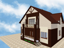 Тот же дом в проекте