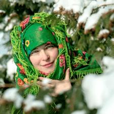 Портрет в этно стиле