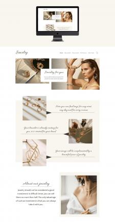 Дизайн сайту для інтернет магазину ювелірних прикр