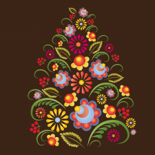 Traditional Ukrainian floral ornament