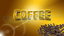 3-D надпись ( кофе)