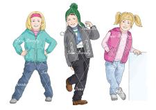 Иллюстрации детской верхней одежды