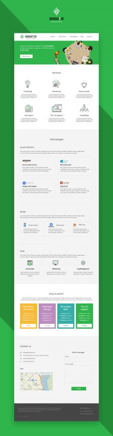 Дизайн сайта - Dedicatted