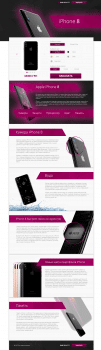 Дизайн Landing Page «iPhone 8»