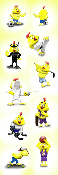 Создание персонажей для серии игрушек