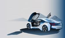 Векторное изображение автомобиля.