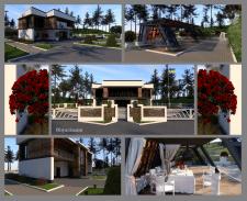 Візуалізація житлового будинку-ландшафт.