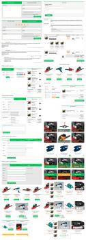 Различные элементы для интерфейса магазина