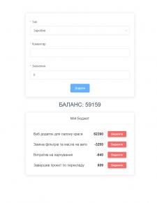 Веб-приложение для подсчета общего баланса