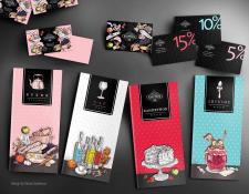 Меню, визитки и дисконты для арт-клуба