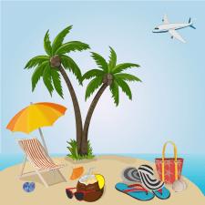 Векторный рисунок для рекламы отдыха
