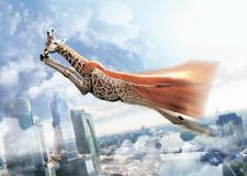 """Иллюстрация для календаря """"Жираф"""""""
