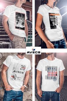 "T-shirt print ""Avecs"""