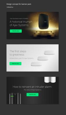 Дизайн концепт банерів Ajax для Google Ads