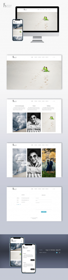 Some parts of photographer website design