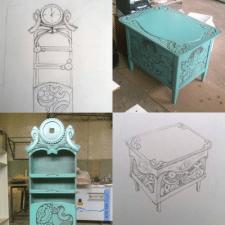 разработка и воплощение дизайна мебели
