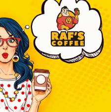 Разработка дизайна логотипа RAF'S coffee