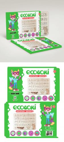 Коробка для детских пазлов-алфавита Экотоки