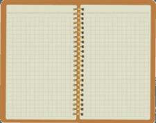 Отрисовка блокнота для заметок в развороте