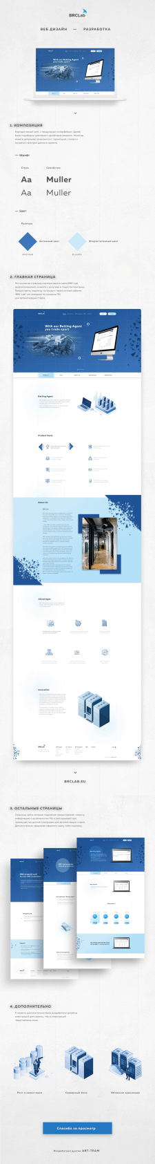 Корпоративный сайт для компании BRC Lab
