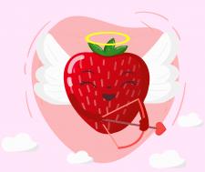 Клубничка, День Валентина