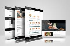 Дизайн сайта ресторана HOA