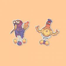 Стикеры птички